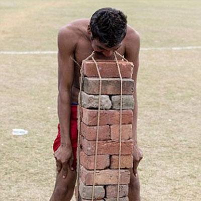 Olympics brick event